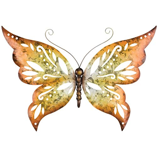Butterfly Capris (Regal Art & Gift Capri Butterfly Wall Decor LG Wandschmuck bernsteinfarben 18