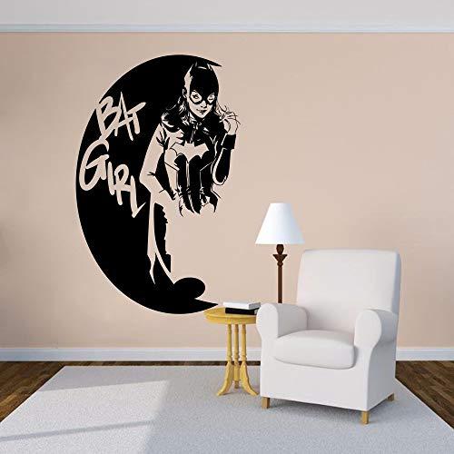 Wandtattoo Batgirl Vinyl Wandaufkleber Home Grils Room Wohnkultur Batgirl Logo Wandkunst Poster 42 * 66 Cm ()