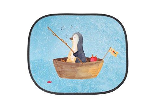 Mr. & Mrs. Panda Auto Sonnenschutz Pinguin Angelboot - 100% handmade in Norddeutschland - Lebenslust, Leben, Neustart, Angeln, Boot, Angelboot, Pinguin, Sonnenblende, Geschenkidee Liebeskummer, , Auto, PKW, Motivation