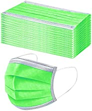 50 Pcs Disposable 3 Ply Earloop Face Masks, Disposable 3-Layer Protective, 3-D Perfect Fit, Soft Skin Layer Fa