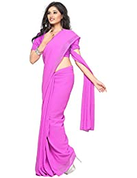 Sonika Plain Georgette Saree (SF060_Light Pink)