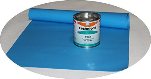 Pool Reparaturset mit Kleber 290 gr. technicoll Folien Reparaturset Poolflicken + Kleber Schwimmbad verschiedene Größen (35 x 70 cm)