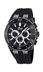 Lotus 15802/3 - Reloj cronógrafo de cuarzo para hombre con correa de caucho, color negro