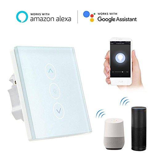 Smart Lichtschalter Dimmer, Teepao Wand Touch Control WiFi Dimmer Lichtschalter Funktioniert mit Amazon Alexa / Google Home / APP Fernbedienung, Unterstützung IOS Android - Neutralleitung Erforderlich (Installieren Dimmer Lichtschalter)