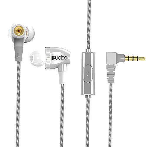 QINPIN 3,5-mm-Doppelring mit In-Ear-Ohrhörer mit Line-Ohrhörer