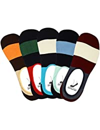 Supersox Men's Anti Slip No Show socks/Lofer Socks - Pack of 5