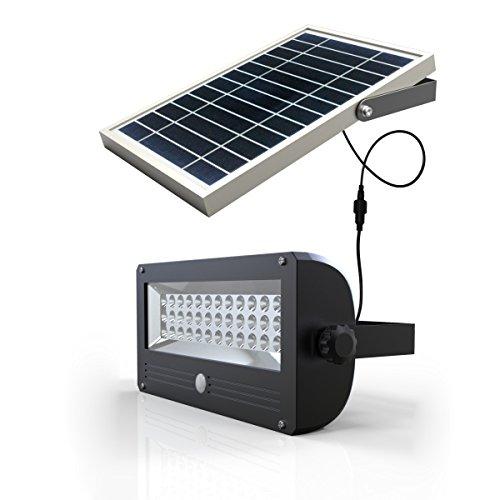 Brightsparksolar BS4103 Lampe solaire autonome avec capteur lumière aluminium, 120 W 1000 lm 24.25 x 12.5 x 92 cm,Gris