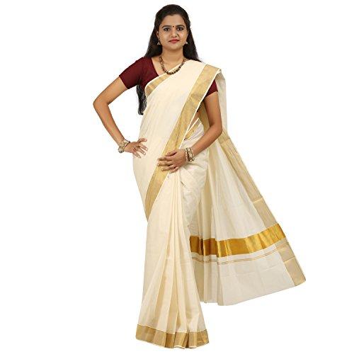 Kasavunadu Premium Cotton Kerala Saree