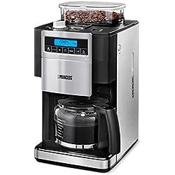 Princess 249402 - Cafetera con molinillo Deluxe de 1.25 litros