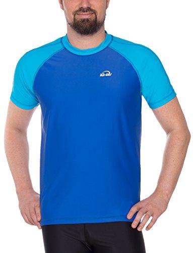 iQ-UV Herren 300 Shirt Loose Fit UV T-Shirt, Hawaii-Blue, M (50) (Blue Hawaii Bekleidung)