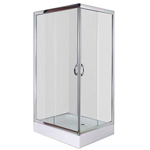 Cabine douche rectangulaire 100 x 80 cm