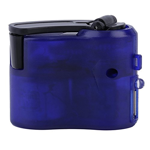 Neue Blaue Kunststoff und Elektronische Element USB Reise Notfall Telefon Ladegerät Dynamo Hand Manuelle Ladegerät Blau