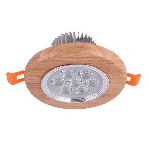 Modenny Luces de techo de madera Lámpara de panel de aluminio redonda...
