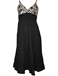 33b17530305 Monsoon Ex Black   White V-Neck Strappy Dress. RRP  £70.