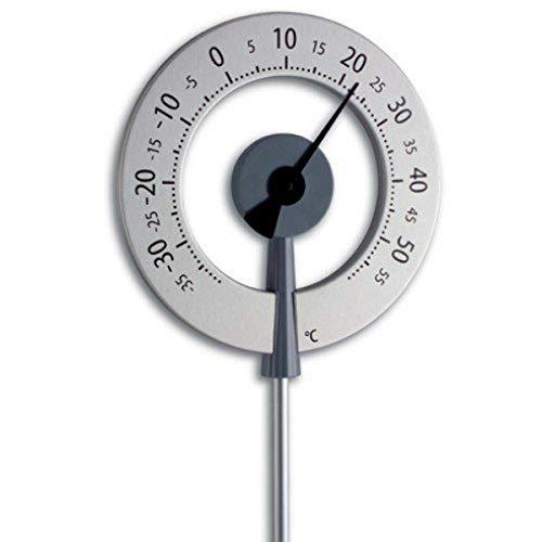 TFA 12.2055.10 LOLLIPOP Thermomètre de jardin design Anthracite avec aiguille noire