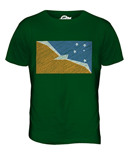 CandyMix Provincia Di Terra Del Fuoco Bandiera Scarabocchio T-Shirt da Uomo Maglietta Verde bottiglia