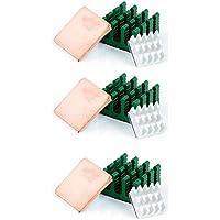 Aukru 3 x kit de deux Dissipateur thermique en Aluminium et un Heatsink en Cuivre Baisser le température pour Raspberry Pi 3 Model B/ Pi 2 Model B