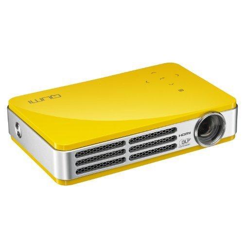 Vivitek Qumi Q5 500 Lumen WXGA HD 720p HDMI 3D-Ready Pocket DLP Projector with 4GB Memory (Yellow) by Vivitek -