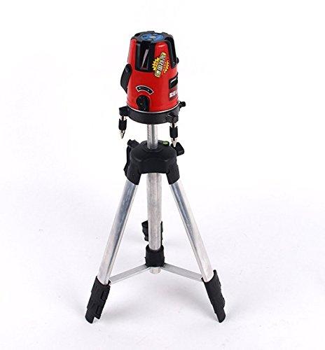 Kit de nivel láser de 360°, autonivelante, 5 líneas, 6 puntos, con trípode