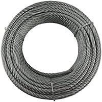 Cables y eslingas Y10619R02508 Cable 6 x 19 + 1 (8 mm, Rollo de 25 m, Acero Galvanizado)