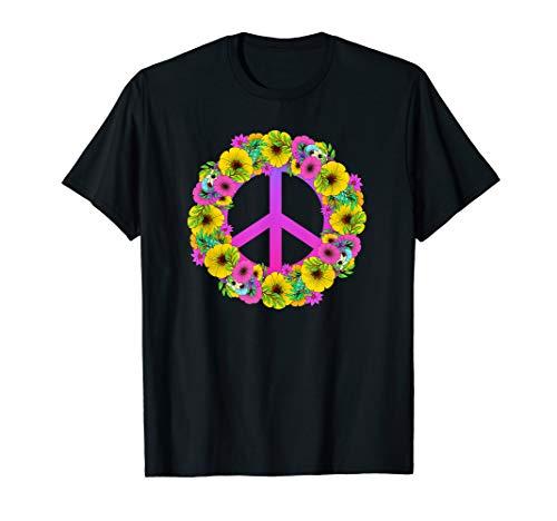 Flower Power Peace Hippie 60er 70er Jahre Shirt  (60er Jahre Outfits Für Frauen)