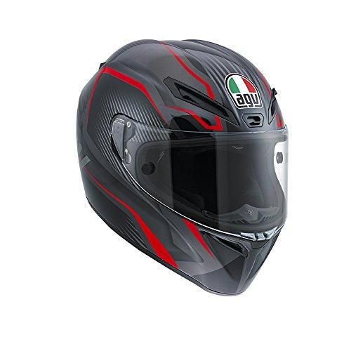 AGV Casco Helmets integrales GT-Veloce E2205, Multicolor (Txt Noir/Gunmetal/Rouge), talla L