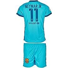 Barcelona 2017/18 Auswärts # 11 Neymar - Kinder Trikot und Hose