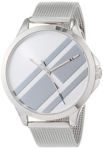 Tommy Hilfiger Damen Analog Quarz Uhr mit Edelstahl Armband 1781961