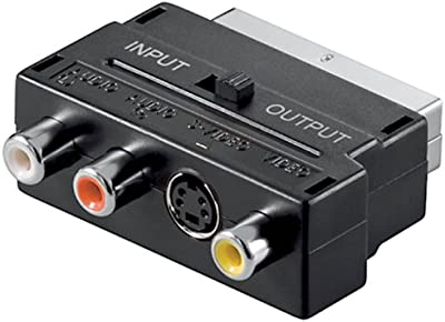 Wentronic AVK 196 SCART 3x RCA + 1x mini DIN (4-pin) Negro adaptador de cable - Adaptador para cable (SCART, 3x RCA + 1x mini DIN (4-pin), Macho/hembra, Negro)