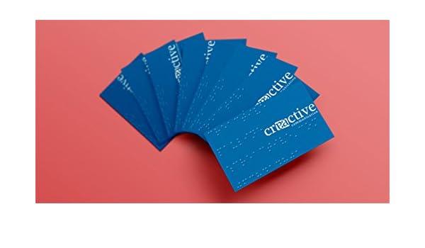 250 Cartes De Visite En Braille Amazonfr Fournitures Bureau