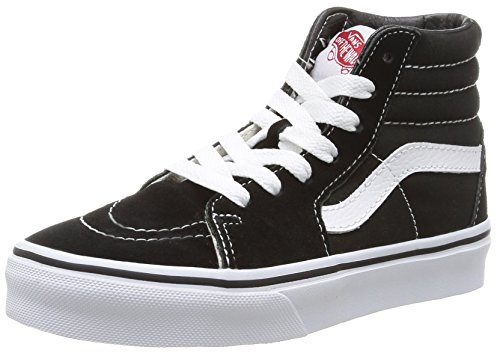 Vans Kids SK8-HI Hohe Sneakers, Schwarz (Black/True White), 27 EU