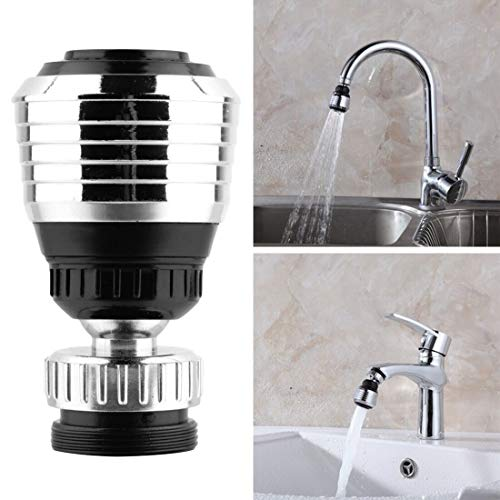 HOME CUBE 1 Pc 360 Rotate Swivel Water Saving Tap Aerator Diffuser Faucet Nozzle Filter Adapter