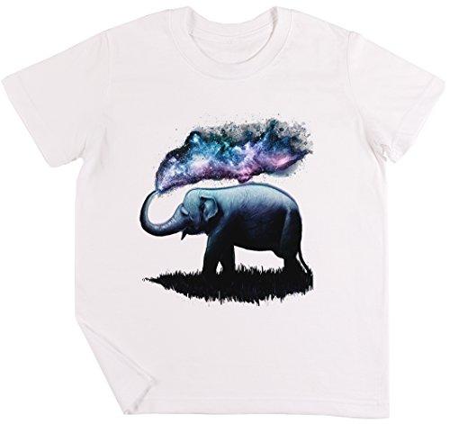 Elefante Chapoteo Niños Chicos Chicas Unisexo Camiseta Blanco
