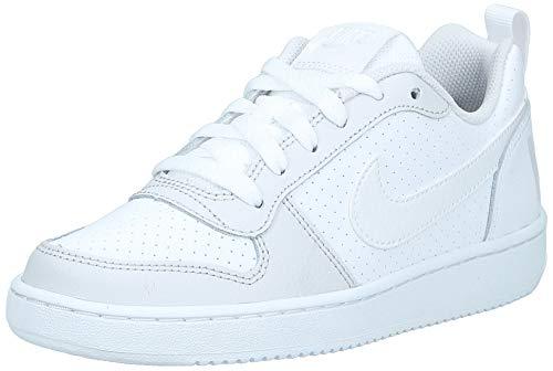 Nike Court Borough Low GS, Zapatos de Baloncesto para Niños, Blanco White/White/Vapste Grey 104...