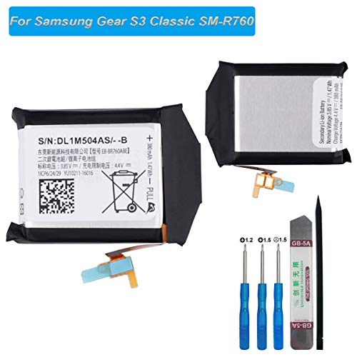 E-yiiviil Ersatzakku EB-BR760ABE Kompatibel mit Samsung Gear S3 Frontier S3 Classic SM-R760 R765 R770 with Tools