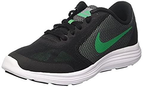 Nike Boys' Revolution 3 (Gs) Low-Top Sneakers, Black (Black / Stadium Green / Cool Grey / White), 6 UK