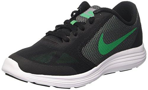 Nike Revolution 3 Gs, Sneakers Mixte Enfant Noir (Black / Stadium Green / Cool Grey / White)