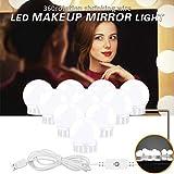 JUSTDOLIFE Specchietto per Specchietto Luce per Specchietto Vanity 10 LED 10W Luce per Trucco Regolabile