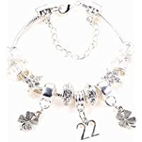 282286e02 22nd Birthday Silver Charm Bracelet with Complimentary Gift Box and Birthday  Card