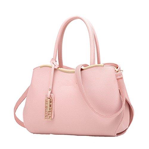 Damen Handtasche Umhängetasche Messenger Bag Mode Mehr Wilde Rucksack Nieten Grey