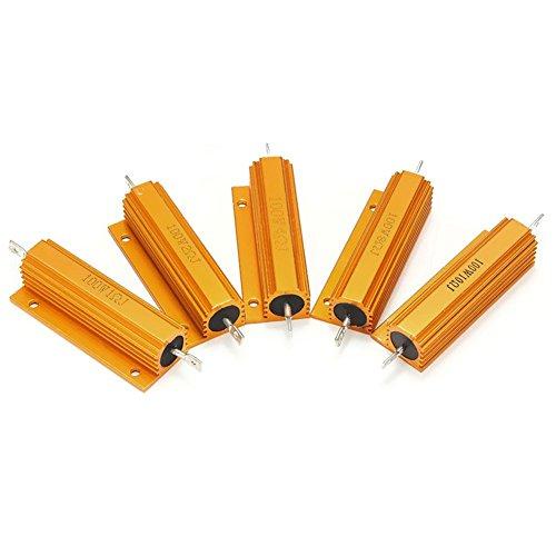 binglinghua 100Watt W 5%, Gehäuse, Aluminium mit ausgeschnittenem Case Wirewound Widerstand, 5Stück 0.2r