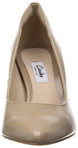 Clarks Dinah Keer Damen Pumps Beige (Sand Leather)