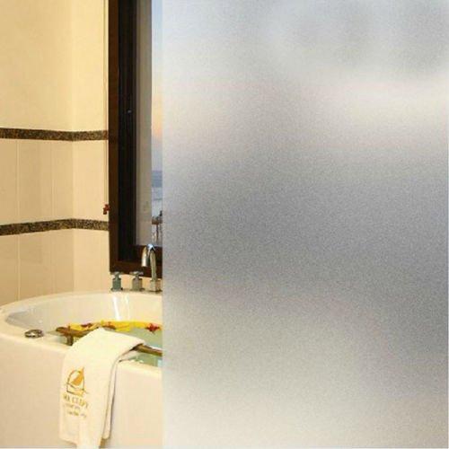 DODOING 60x100cm Fensterfolie Sichtschutzfolie Milchglasfolie Window Film