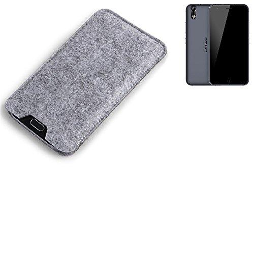 K-S-Trade Filz Schutz Hülle für Ulefone Paris Arc HD Schutzhülle Filztasche Filz Tasche Case Sleeve Handyhülle Filzhülle grau