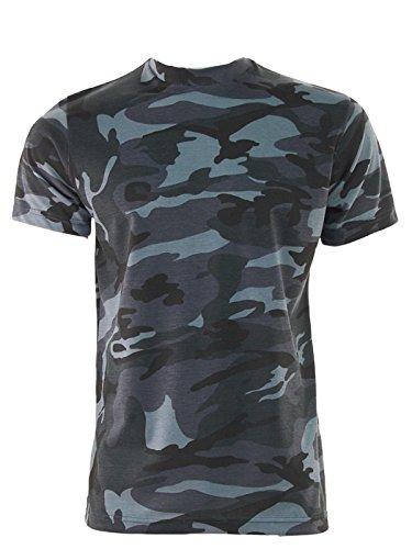 Game Herren Midnight Camouflage Militär Armee Jagd Angeln T Shirt Gr. XXXXX-Large, Blues, Blacks (Armee T-shirt Militär)
