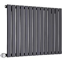 Hudson Reed Delta Radiador Radiador eléctrico Horizontal Negro a Panel – Elemento Termostático ...