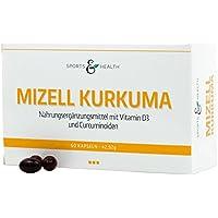 Mizell Curcuma Kapseln (Kurkuma) - Hochdosiert - Höchste Bioverfügbarkeit Durch Mizellentechnologie (60 Kapseln)