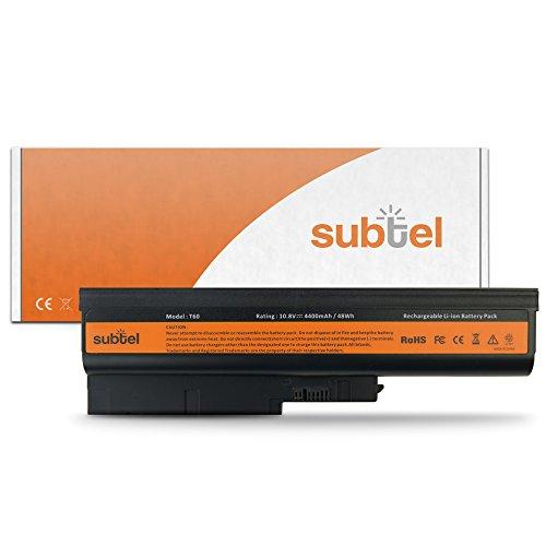 subtel® Batteria per Lenovo Thinkpad T61, T500, W500, R500, R60e, R61, R61i, T60p, T61p, SL500 / IBM ThinkPad R60e, T60p, Z60m, Z61e - 4400mAh Batteria di ricambio Lenovo Battery 41, 42T4670, 40Y6797, 92P1131 [...] sostitutiva