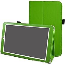 """Alcatel Onetouch PIXI 3 (10) Funda,Mama Mouth Slim PU Cuero Con Soporte Funda Caso Case para 10.1"""" Alcatel One Touch Pixi3 10 Android Tablet,verde"""