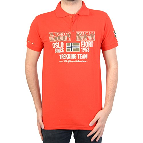 Geographical Norway Polo-Hemd Kopervik SS Men 100 Red Rouge